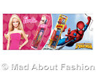 NEW Childs Childrens Spiderman & Barbie Electric Battery Toothbrushes