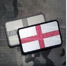 St Georges Cross English Flag Velcro Morale Patch GB UK PVC ARMY UBACS England