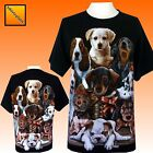 Ladies Womens Cute Pups Animals Pet dog Dogs t-shirt Top