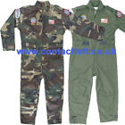 Kids unisex Flying Suit dpm/Camo/Green Military Army Soldier Fancy Dress Costume