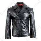 WW2 Repro German Panzer / U-Boat Black Leather Wrap Jacket - All Sizes
