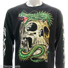 rc48 M L XL XXL XXXL Rock Eagle Long Sleeve LS T-shirt Tattoo Glow in Dark Ghost