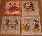 """4 Different Mickey Mouse Canvas Prints 15""""x15"""" On A Wooden Stretcher Frame"""