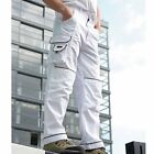 Blackrock Decorators White Work Trousers Painters Cargo Pants Knee Pad Pockets