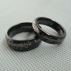Brand New Black LOTR Tungsten Carbide Wedding Couple Ring QL3 With Chain