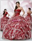 2014 New Blue Ball Gown Prom Dress Evening Party Quinceanera Dress Custom SZ