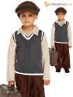 Evacuee Boy Fancy Dress WW2 1940s Child Kids World War Two VE Day Costume Outfit