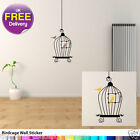 BIRD CAGE 02 WALL DECAL NEW DIY DECALS TREE FLOWERS DECO DECORATIVE WALL STICKER