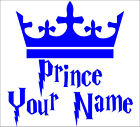 Personalize PRINCE YOUR NAME decal sticker vinyl wall art nursery kids room P1