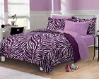 NEW Exotic Zebra Purple Teen Bedding ...