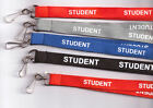 5 x 'STUDENT' Neck Strap Safety Lanyards - 3 Colours Available: FREE UK P&P