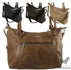 Large Genuine Leather Handbag with Detachable Strap (3777)