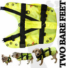 NEW Two Bare Feet Dog Life Jacket Swim Buoyancy Aid