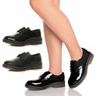 WOMENS LADIES FLAT LOW HEEL OXFORD LACE UP ARMY MILITARY RUBBER SOLE SHOES SIZE