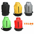 Outdoor Waterproof Dry Backpack Bag With Zipper For Canoeing Sports Camping