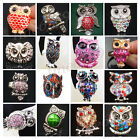 New Lot Fashion Owl More Styles Mixed Colors Crystal Rhinestone Metal Rings