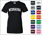 State of Nebraska College Letter Woman's T-shirt