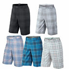Nike Dri Fit Tartan  Check Golf Shorts