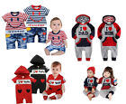 Baby Sport Suit w Hoods, Casual Design Grey, Navy QUALITY COTTON (Boy / Girl)