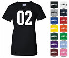 Number 02 Zero Two Sports Number Woman's Jersey T-shirt Front Print