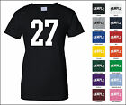 Number 27 Twenty Seven Sports Number Woman's Jersey T-shirt Front Print