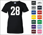 Number 28 Twenty Eight Sports Number Woman's Jersey T-shirt Front Print