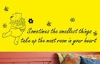 Winnie the Pooh wall art sticker quote #2