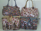 Genuine Oilcloth womens owl print satchel long strap shoulder hand bag school