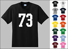 Number 73 Seventy Three Sports Number Youth Jersey T-shirt Front Print