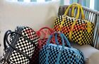 2013 Fashion Korean version of the cylindrical Checkered Bag 4 colour