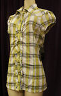 NEW WOMEN AUTHENTIC ROCAWEAR BUTTON DOWN TOP SIZE M