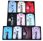 Shirt And Tie Set Boys Formal/Smart Shirt Long Sleeved By Device Ages 6M-15Years