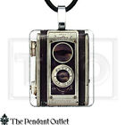 Antique Kodak Duaflex Camera Lens Vintage Retro Photography Pendant Necklace