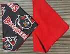 TAMPA BAY BUCCANEERS NFL HOMEMADE 2 SIDED DOG SCARF (PICK SIZE) on eBay