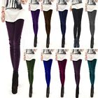 Women Girl Velvet Pleuche Sexy Soft Stretch Slim Leggings Pants Tights 8 Colors