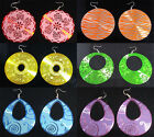New Lot Fashion Mixed Colorful Round Teardrop Styles Hook Metal Earrings