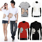 Mens Womens Funny Hand Grab Lovers Couple Clothes Short Sleeve T-Shirt Tee Tops
