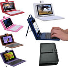 7 Colors PU Leather USB keyboard Cover Stand Case 7'' Inch Tablet PC Mid +Stylus