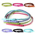 Fashion Plait PU Leather Candy Color Cross Buckle Thin Skinny Belt 6 Colors