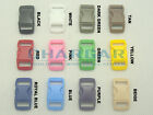 "100pcs 3/8"" Webbing Contoured Curved Buckles for 550 Paracord Bracelets Colored"