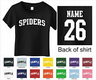 Spiders Custom Personalized Name & Number Infant or Toddler T-shirt