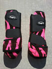 Tough-1 Extreme Vented Sport Protection FRONT Fuchsia Pink Zebra SMB Boots S M L