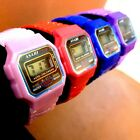 1pcs UPICK Digital Kid Wrist Watch Toy Colorful Child Plastic Fashion Cute A1393