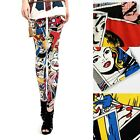 Hotsale Fashion Sexy Cartoon Girl Graffiti Doodle Printing Pants Tights Leggings