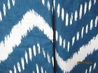 (2) Nate Nepal Chevron- Blue Pillow Shams your choice Queen or King