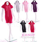 Ladies One Piece Jumpsuit Womens Playsuit Hoody Shorts Onesie Summer Hot Pants