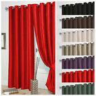 HIGH QUALITY FAUX SILK CURTAINS - FULLY LINED - TIEBACKS AND CUSHION COVERS