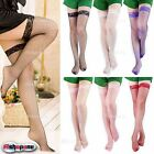 Ladies Sexy Fishnet Lace Top Net Sheer Knee High Party Stockings Black Red