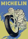 Vintage Michelin motorcycle poster, Italian, 1959  poster repro.