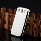 Silver Designer Leather Chrome Hard Case Cover For Samsung Galaxy S3 SIII i9300